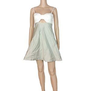 EUC Alice + Olivia open front fit + flare dress